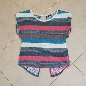 VTG 90s 5-7-9 Striped Criscross Top